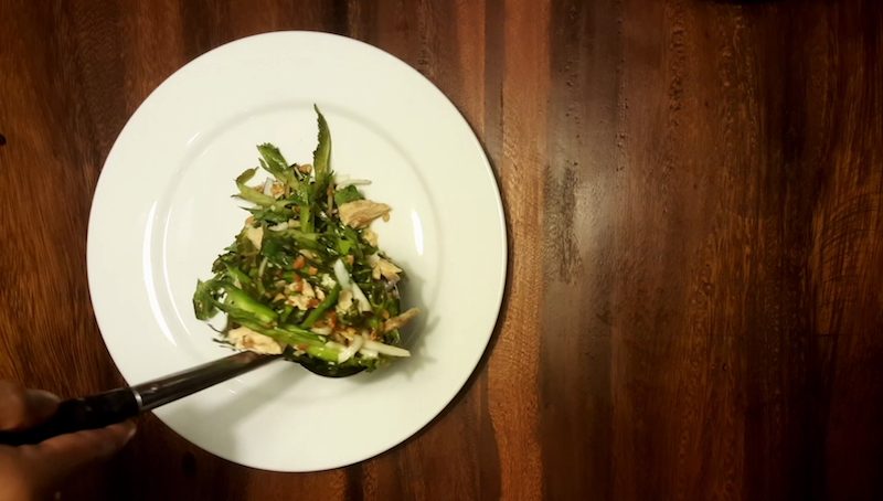 Khmer Wing Bean Salad (សាឡាត់ប្រពាយ)