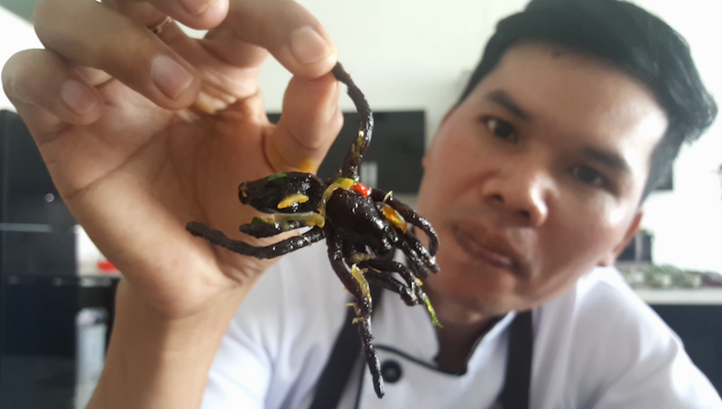 Delicious Fried Spiders