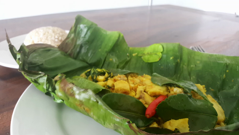 Khmer Fish in Banana Leaf